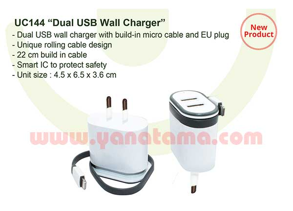 Dual Usb Wall Charger Uc144