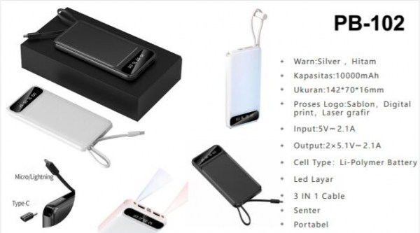 Power Bank Pb 102 600x400